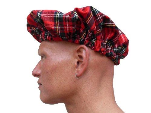 Mütze zum Kilt rot kariert Schottenrock NEU Barett