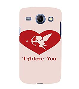 PrintVisa Valentines Day Design 3D Hard Polycarbonate Designer Back Case Cover for Samsung Galaxy Core i8262