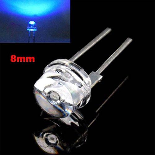Keyzone 10 Pcs 8Mm 2 Pins Led Lamp Bead Emitter Diode Blue Light