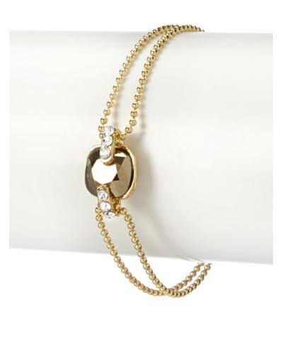 Chamak By Priya Kakkar Gold Swarovski Elements Dainty Bracelet As You See