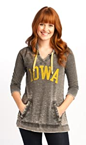 NCAA Iowa Hawkeyes Tunic Pullover Hoodie Ladies by Wishbone