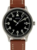 Aristo 3H84 Quartz Aviator Style Watch with Sandblasted Case