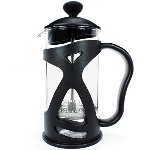 KONA French Press Small Single Serve Coffee and Tea Maker, One Black 12oz (3 Cup 1 Mug) Pot V. 4