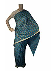 Beautiful RUDA Designer Phulkari Embroidered Saree-JS1102