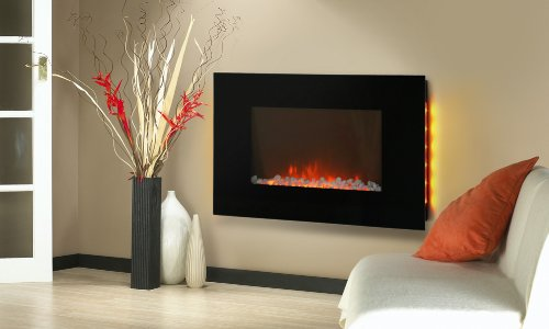 Electric Wall Mount Backlight Fireplace 36