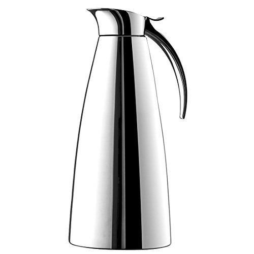 Emsa Eleganza Stainless Steel Insulated Carafe, 44-Ounce (Thermal Carafe Red compare prices)