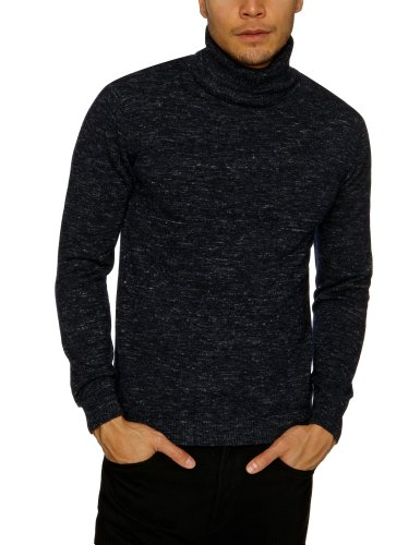 Selected Homme Gala Roll Neck F Men's Jumper Black/Navy Small