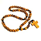 Original Olive Wood Rosary Beads and Cross from Bethlehem