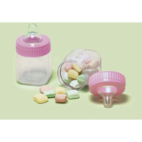 Baby Bottle Pink (6 Ct) Favor Accessories (6 Per Package) front-1019458