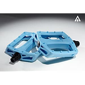 Amber Basic Plastic Pedals - Blue