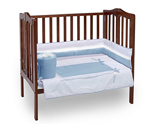 Baby Doll Royal Port-a-Crib Bedding Set, Blue - 1