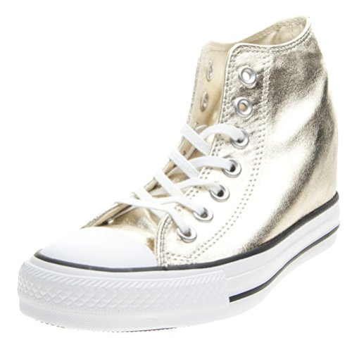 Converse All Star Mid Lux Metallic - 555153c Light Gold/White/Black - (37, ligt gold/white/black)
