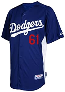 MLB Mens Los Angeles Dodgers Josh Beckett Authetic Batting Practice Jersey by Majestic