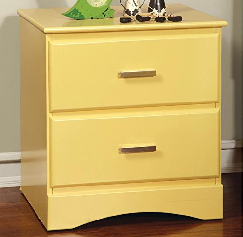 Furniture Of America Colorpop 2-Drawer Youth Nightstand (Yellow)