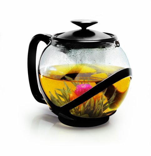 Primula Pta-2340 Tempo Teapot With Infuser And Lid, 40-Ounce, Black