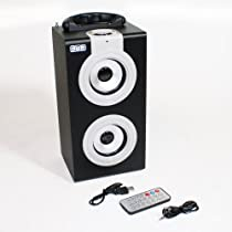 EMB PORTABLE BOOM BOX! SD/MP3/USB/PC Rechargeable EURO9 in GREY