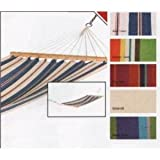 TENAX DELUXE GARDEN HAMMOCK WITH WOODEN SPREADER BARS RED/PINK STRIPEby PRIME FURNISHING