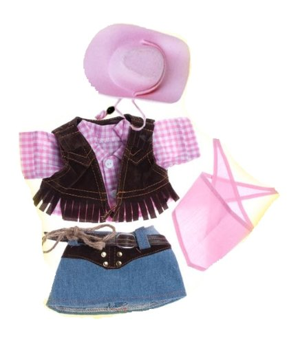 """Cowgirl With Pink Hat And Scarf Fits Most 8""""-10"""" Webkinz, Shining Star And 8""""-10"""" Make Your Own Stuffed Animals And Build-A-Bear front-648339"""