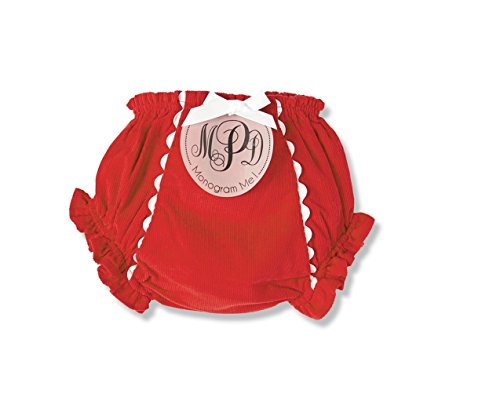 Mud Pie Holiday Monogram Me Christmas Baby Girl Red Corduroy Bloomers (Mud Pie Bloomers compare prices)