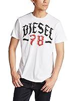 Diesel Camiseta Manga Corta T-Lonad (Blanco)