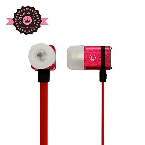 Msbma366 Red On-Ear Sleep Headphones Thinnest, Most Comfortable Earphones For Sleeping - With Inline Microphone With Awareness