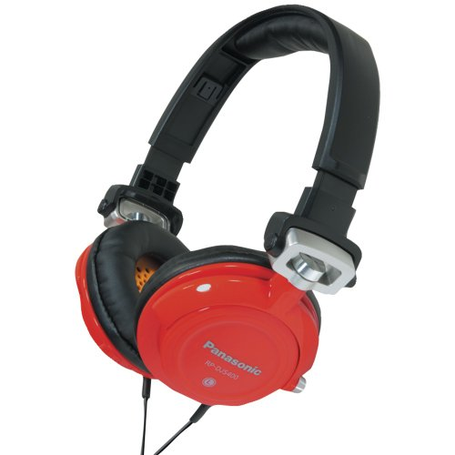 Panasonic Rp-Djs400-R Djs400 Dj Street-Style Headphones (Red)