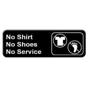 "Amazon.com: Thunder Group PLIS9330BK ""No Shirt, No Shoes, No Service"