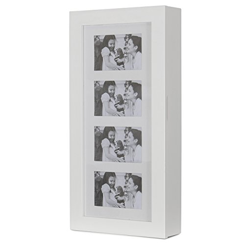 Belleze Photo Frames Jewelry Armoire Cosmetic Storage Pictures MDF, White (Picture Jewelry Box compare prices)