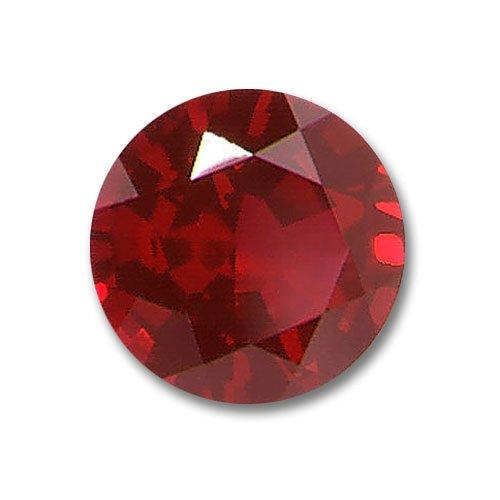 3.0mm Round Gem Quality Chatham Cultured Lab-Grown Ruby .14-.17 Ct.