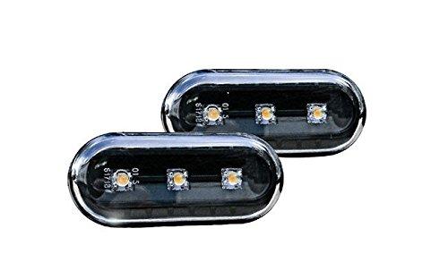 VW Golf Jetta MK4 4 Passat B5 B5.5 Black LED Side Marker Lights Turn Signals (Mk3 Side Marker compare prices)