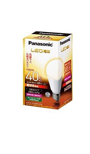 パナソニック LED電球 電球40W形相当 密閉形器具対応 E26口金 電球色相当(4.9W) 一般電球・広配光タイプ  LDA5LGK40ESW