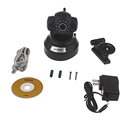 Neewer® Black P2P Plug & Play High Definition Wireless Pan & Tilt IP/Network Internet Camera, H.264 720P 1 Million Pixels, Surveillance Camera System, Baby Monitor, Pets Monitor, Home Security, Two-Way Audio, Night Vision, Built-in Microphone With Cell Ph