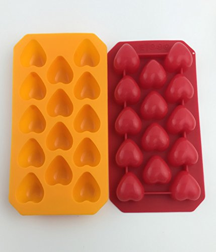 Clearance - BONISON Non-Slippery Heart-Shape Ice Cube Tray (Red) (Hearts Ice Cube Tray compare prices)