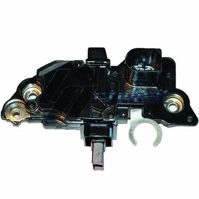 NEW LActrical HD ALTERNATOR VOLTAGE REGULATOR BRUSH HOLDER BRUSHES FOR VW VOLKSWAGEN JETTA GOLF BEETLE 2.0 2.0L 2.8 2.8L ENG. 1999 99 2000 00 2001 01 2002 02 2003 03 2004 04 2005 05 12 Volt A-Circuit L-FR Terminals 14.4 Vset 100% NEW
