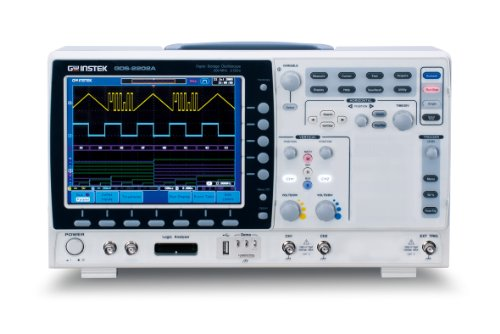 "Gw Instek Gds-2072A 8"" Lcd Color Display Visual Persistence Digital Storage Oscilloscope With Usb Port, 70Mhz Bandwidth, 2-Channel, 5Ns Rise Time"