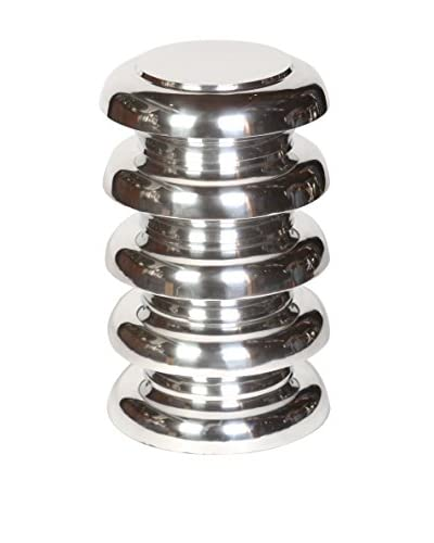 Prima Design Source Stacked Garden Stool, Polished Nickel