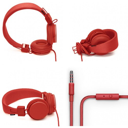 Brand New Urbanears Plattan Tomato Headphones Iphone 4 Ipod