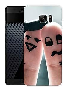 "Finger HugPrinted Designer Mobile Back Cover For ""Samsung Galaxy Note 7"" (3D, Matte, Premium Quality Snap On Case)"