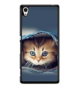 printtech Kitten Jeans Back Case Cover for Sony Xperia Z4 , Sony Xperia Z4 E6553