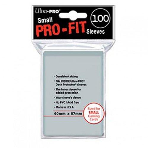 Ultra Pro - 330492 - Jeu De Cartes - Housse De Protection - Pro-fit - Transparent - Petit - C100
