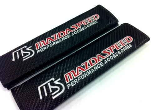 Mazdaspeed Carbon Fiber Seat Belt Cover Shoulder Pad Cushion (2 pcs) (Mazdaspeed 3 compare prices)