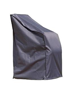 Friedola 15185 Wehncke Deluxe Housse/Bâche de protection pour fauteuil/chaise de jardin Noir 65 x 65 x 120 cm