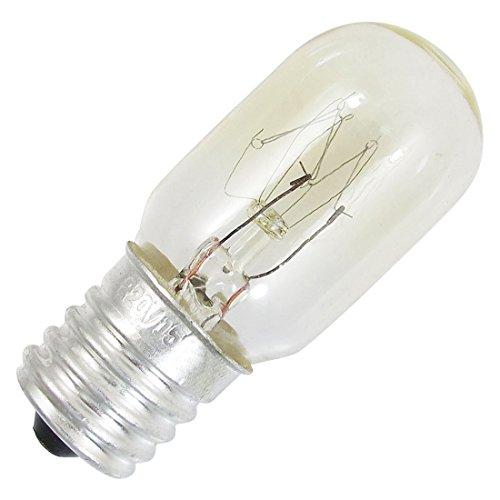 TOOGOO(R) Refrigerateur Congelateur Ampoule E17 Base de lumiere blanche chaude Lampe 220V 15W