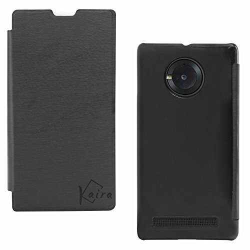 Kaira Durable Flip Cover Protector Case for Micromax Yuphoria (Black)