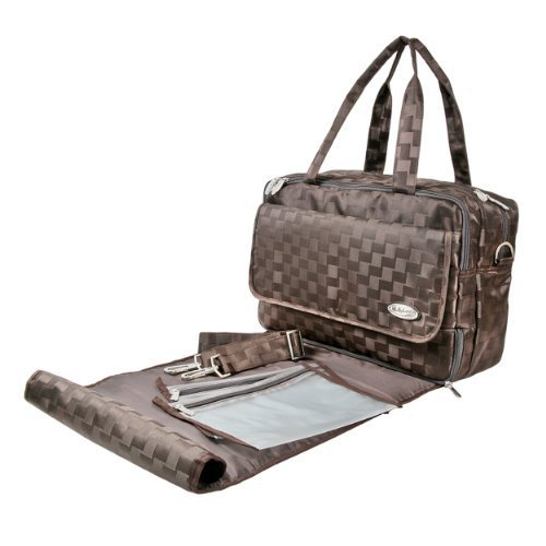 Mabyland Luxury Maxi Elite Changing Bag Set (Brown) by MaByLand