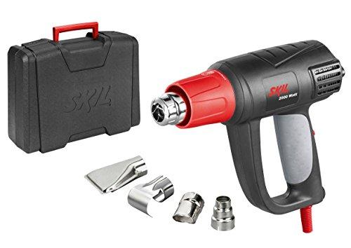 Heißluftpistole 8004 AA (2.000W, LCD Temperatureinstellung, 4 tlg. Zubehörset, mit Koffer)