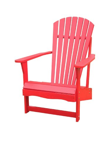 International Concepts C-92248 Adirondack Chair, Red
