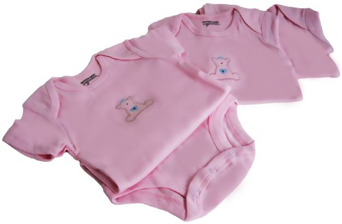 Emma Organic Baby Onesies Clothes - Pink/Med/3-6 Months/Shortsleeves front-10719