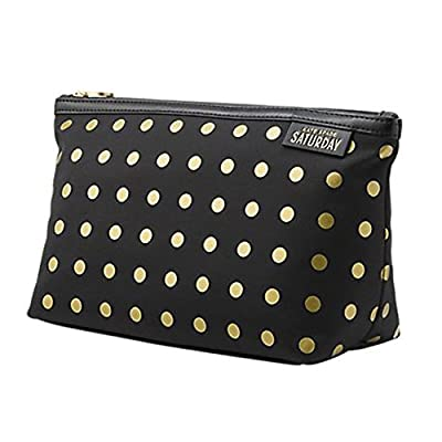 Best Cheap Deal for Kate Spade Saturday Black with Gold Dots Cosmetic and Toiletry Bag from Kate Spade - Free 2 Day Shipping Available