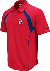 St. Louis Cardinals Reebok Trainer Red Performance Polo Shirt by Reebok